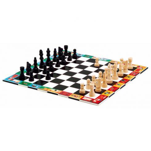 Társasjáték klasszikus - Sakk, Kínai sakk és Dáma - Chess+Checkers