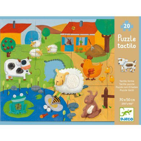 Óriás puzzle - Tanya - Tactile farm puzzle