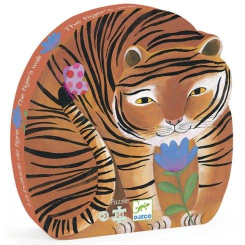 Formadobozos puzzle - A tigris sétája - The tiger's walk