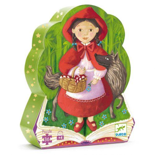 Formadobozos puzzle - Piroska és a farkas - Little Red Riding Hood