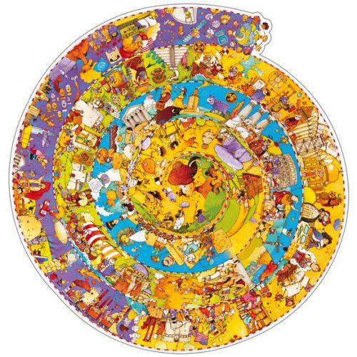 Megfigyeltető puzzle - Történelem, 350 db-os spirál puzzle - History + booklet