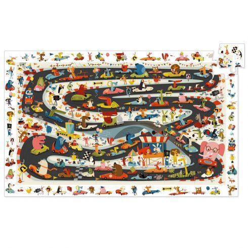 Megfigyeltető puzzle - Állati autóverseny - Car rally