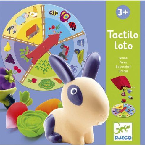 Fejlesztő társasjáték - Tapintható képeslottó - Tactilo lotto, farm