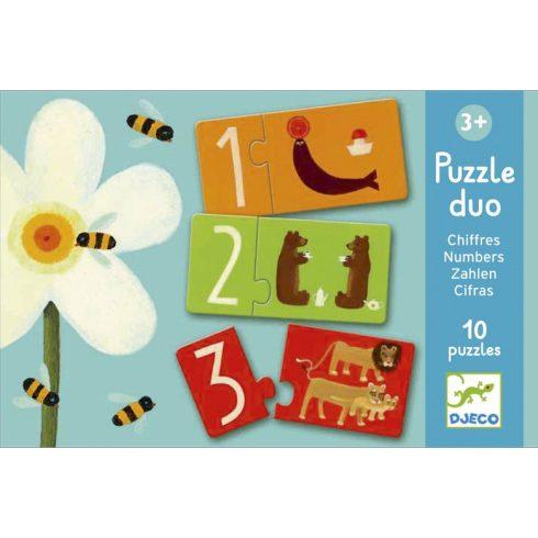 Párosító puzzle - Számok - Numbers