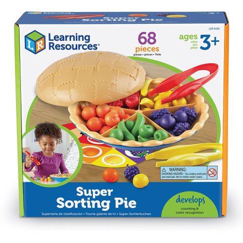 Super Sorting Pie,  pite szortírozó finommotorika fejlesztő csipesszel