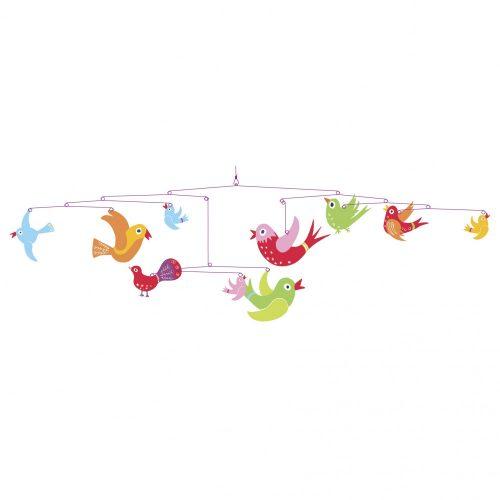 Szélmobil függődísz - Színes madarak - Colourful flight of fancy